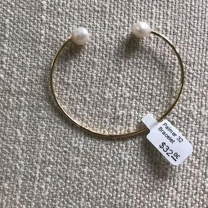 NWT Palmer & Purchase gold pearl bangle